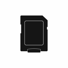 Micro sd card icon, simple style