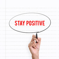 Stay Positive, hand writing notes