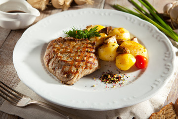 Pork Steak with Potato