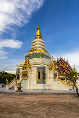 Beautiful religious building with gold decoration and gilding