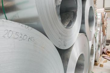 Steel coil closeup
