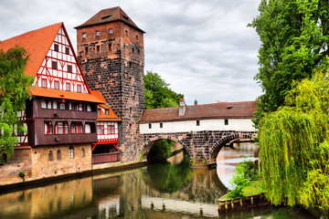 Wall Mural - Maxbrucke bridge in Nuremberg