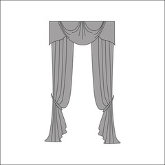 interior textiles. window decoration. curtains.