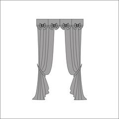 interior textiles. window decoration. curtains.
