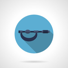 Micrometer tool flat round vector icon