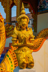 Golden sculpture. Thailand. Chiangmai.