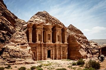 Monastery Ad-Deir, ancient Nabataean city Petra, Jordan.