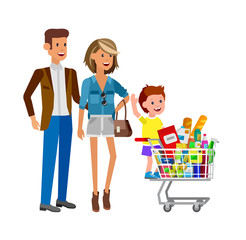 Shop, supermarket Vector flat illustrations