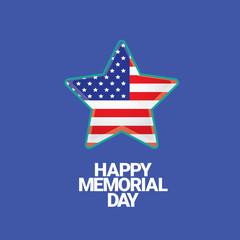 Happy Memorial Day banner . memorial day card.