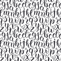 Hand drawn abc letters seamless pattern