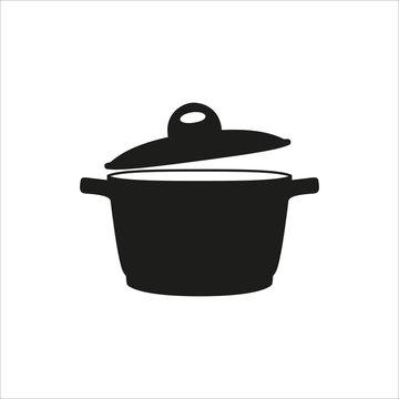pot icon in simple monochrome style icon on white background