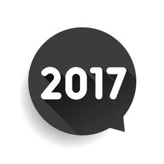 2017 label speech bubble vector