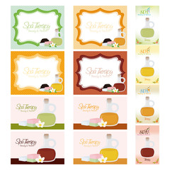 Set of spa illustrations