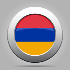 metal button with flag of Armenia