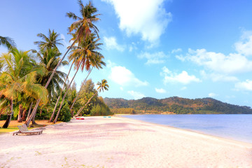 Beautiful tropical beach at Koh chang, Thailand.