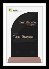 Vector template for certificate,modern minimal diploma