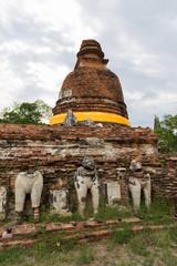 The pagoda at Wat Maheyong, Ayutthaya province. The ancient capital city of Thailand.