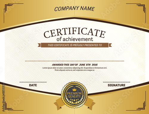 Gold medal yellow frame gold background certificate template vector gold medal yellow frame gold background certificate template vector certificate illustration design eps illustrator 10 yadclub Gallery