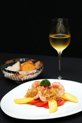 Cook Shrimp with Mango