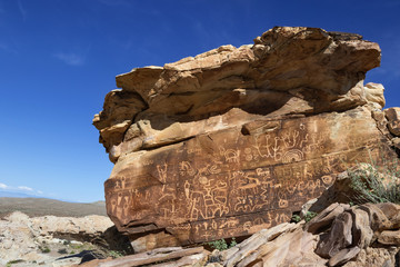 Newspaper Rock Petroglyph in Gold Butte Area, Nevada