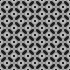 Seamless parquetry vector monochrome pattern background