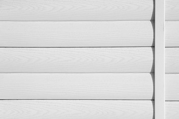 White wooden background. Horizontal boards. Wood texture.