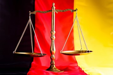 German law. Scales of justice
