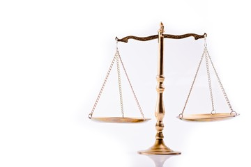 Scales of justice - the symbol of law