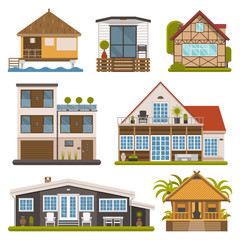 Set of Bungalows, Apartments and House for Rent