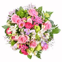 Blumenstrauß mit Rosen und Ranunkeln