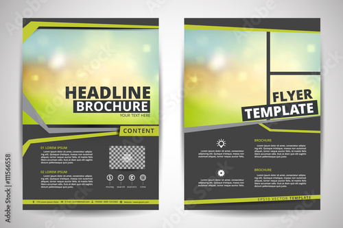 brochure design template vector.flyers annual report magazine, Presentation templates