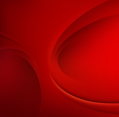 Red Template Abstract background with curves lines and shadow. For flyer, brochure, booklet,websites design