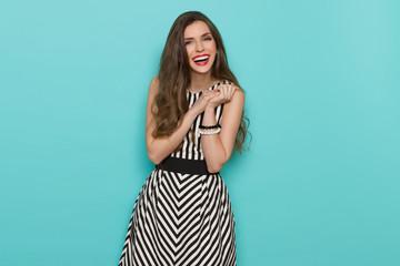 Laughing Fashionable Girl