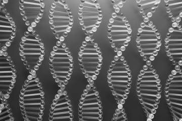 glass dna structure 3d rendering