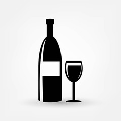 bottle and wine glass icon