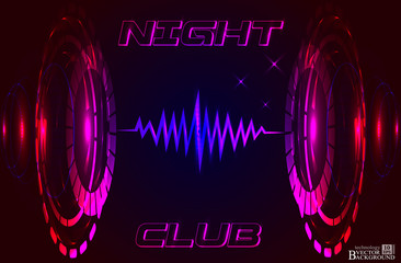 Abstract music background for night club, technology color backg