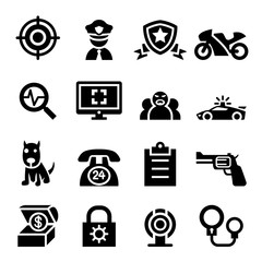 Police & security icon set