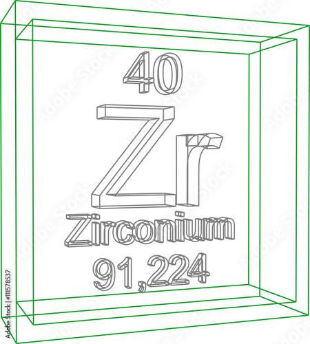 Periodic table of elements zirconium stock image and royalty periodic table of elements zirconium urtaz Gallery