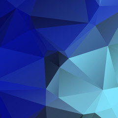Low poly triangulated background. Blue shades. Vector illustration.
