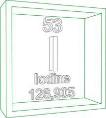 Periodic Table of Elements - Iodine