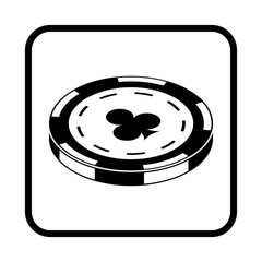 Casino chip vector icon