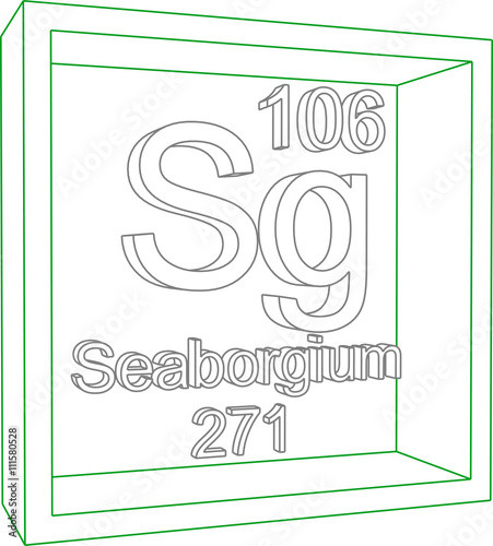 Periodic Table Of Elements Seaborgium Stock Image And Royalty