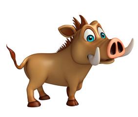 cute Boar funny cartoon character
