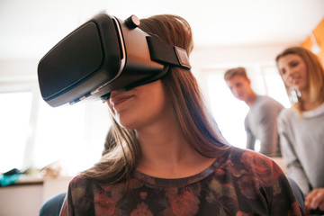 Young People Using VR