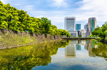 Skyscrapers near the Imperial Palace in Tokyo