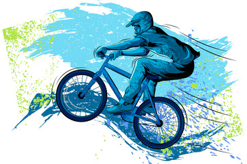 Concept of sportsman Cycling