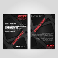 Brochure flier design template. Vector concert poster illustration. Leaflet cover layout in A4 size