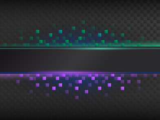 Abstract dark background with colorful light.
