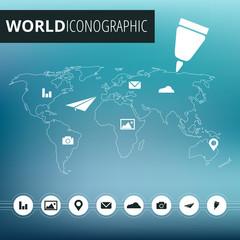 Icone Globalizzazione Mondo