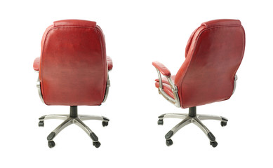 Set of Office chair over isolated white background